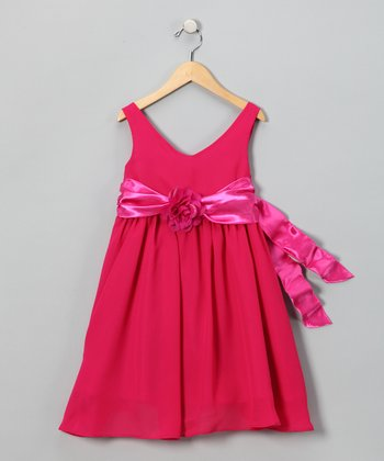 Fuchsia Flower Dress - Toddler & Girls