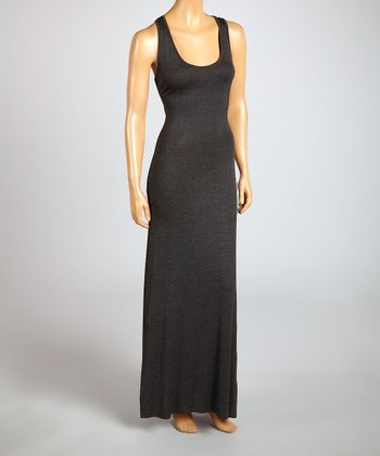 Magic Fit Charcoal Sleeveless Maxi Dress