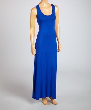 Magic Fit Royal Blue Sleeveless Maxi Dress