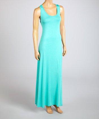 Magic Fit Mint Sleeveless Maxi Dress