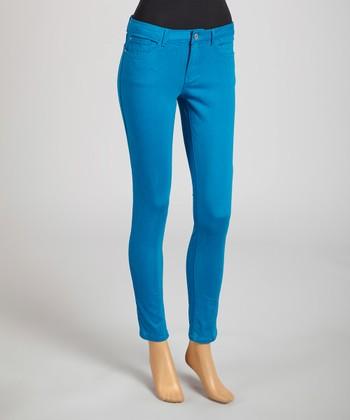 Reform Jeans Blue Ankle Pants