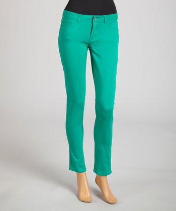Reform Jeans Green Ankle Pants