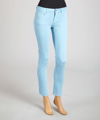 Reform Jeans Sky Blue Ankle Pants