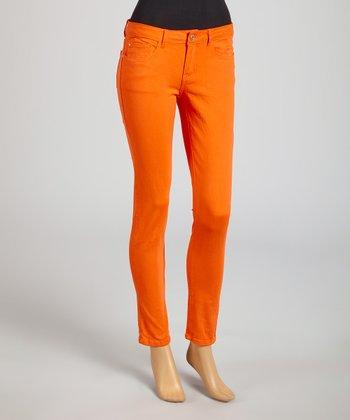 Reform Jeans Orange Ankle Pants