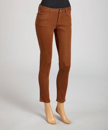 Reform Jeans Brown Ankle Pants