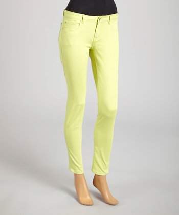 Reform Jeans Lime Green Ankle Pants