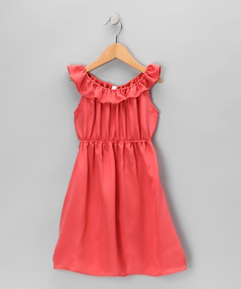 Azalea Ruffle Collar Silk Dress - Toddler & Girls