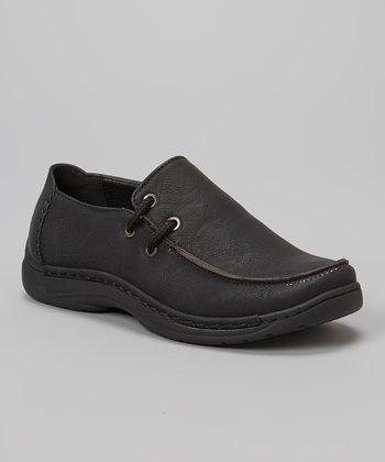 PABEL Black Slip-On Shoe