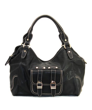Black Madeline Satchel