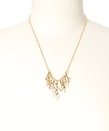 White Coral Station Necklace