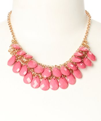 Hot Pink Monte Carlo Necklace