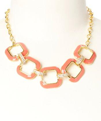 Gold & Coral Julie Necklace