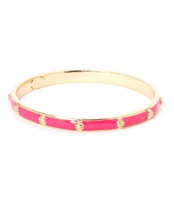 Pink & Gold Ship Bangle