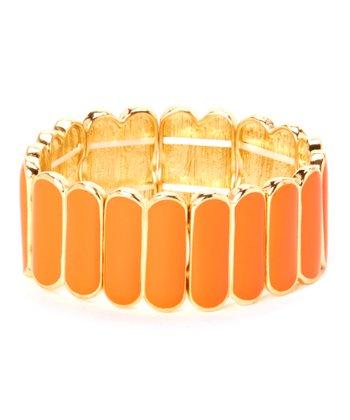 Orange & Gold Stretch Bracelet