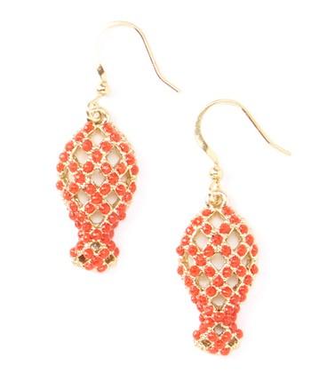 Coral Fish Drop Earrings