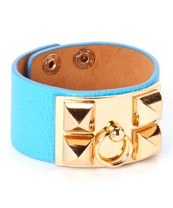 Gold & Turquoise Studded Bracelet