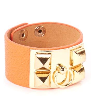 Gold & Orange Studded Bracelet