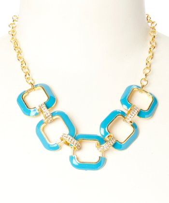 Gold & Turquoise Julie Necklace