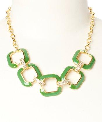 Gold & Green Julie Necklace