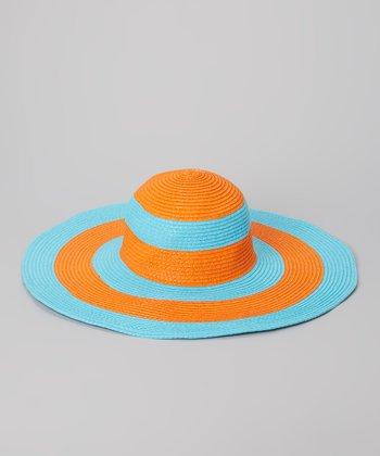 Blue & Orange Stripe Sunhat