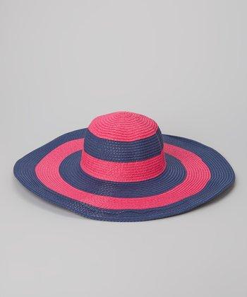 Blue & Pink Stripe Sunhat