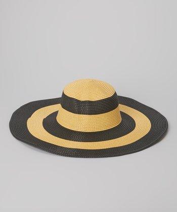Black & Tan Stripe Sunhat