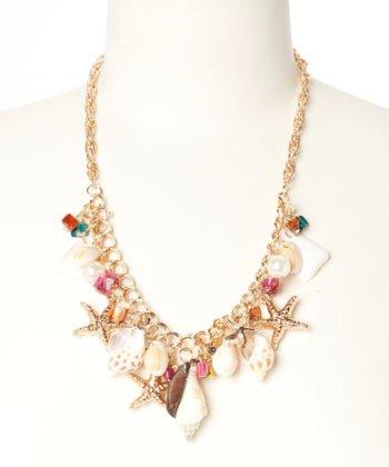 Gold Starfish Seashell Necklace