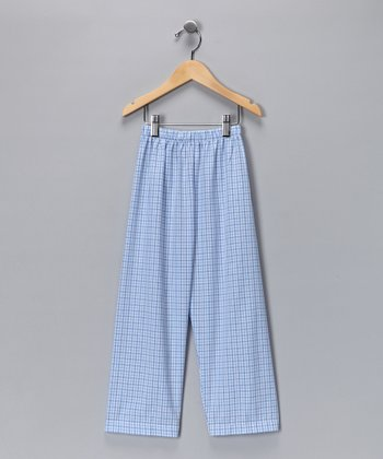 Blue Gingham Sea Monster Pants - Infant, Toddler & Boys