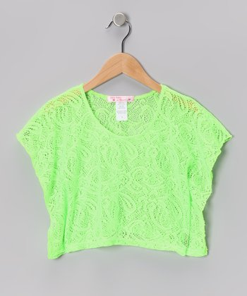 Baby Baby by Blush Lime Lace Poncho