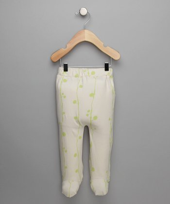 Vanilla & Apple Printed Footie Pants - Infant