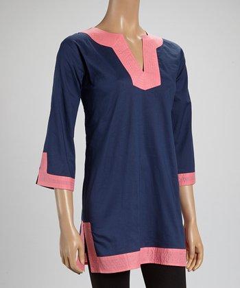 Pink & Navy Tunic