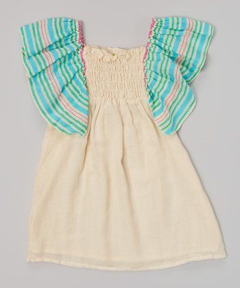 Blue Punch Stripe Dress - Toddler & Girls