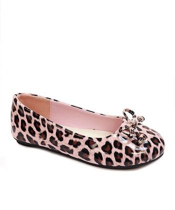 Rugged Bear Pink Leopard Ballet Flat