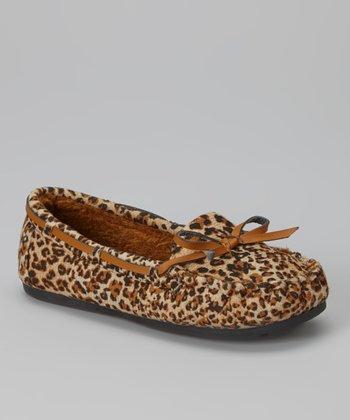 Ositos Shoes Tan Leopard Tasha Loafer