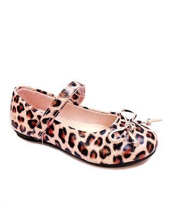 Rugged Bear Pink Leopard Mary Jane