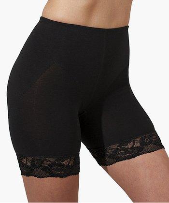 Black Civil Lace Shaper Shorts - Women & Plus