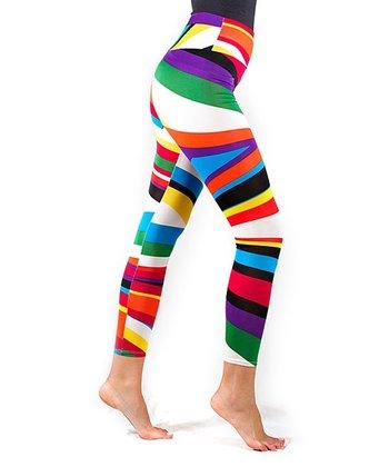Rainbow Stripe Shaper Leggings - Women