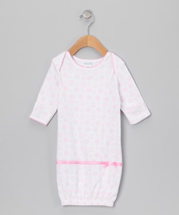 Light Pink Damask Gown - Infant