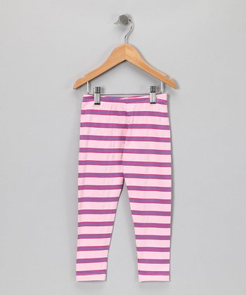 Pastel Stripe Leggings - Infant, Toddler & Girls