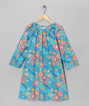 Blue Floral Aubrey Dress - Infant & Toddler