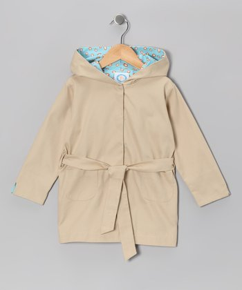 Light Beige Trench Coat - Toddler & Girls