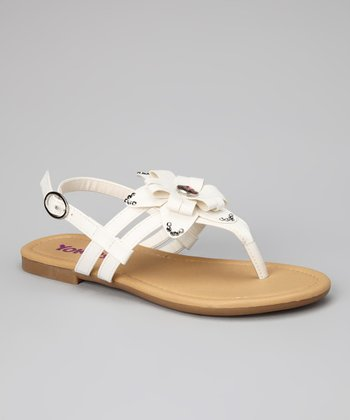 White Ruth-K Sandal