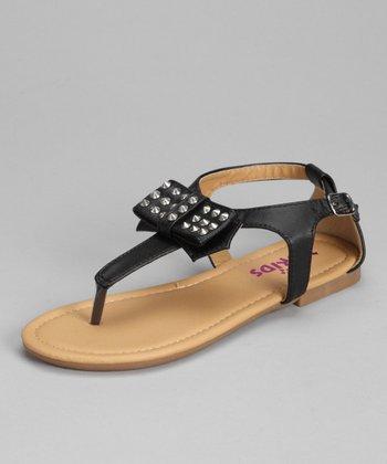 Black Joanna-K T-Strap Sandal