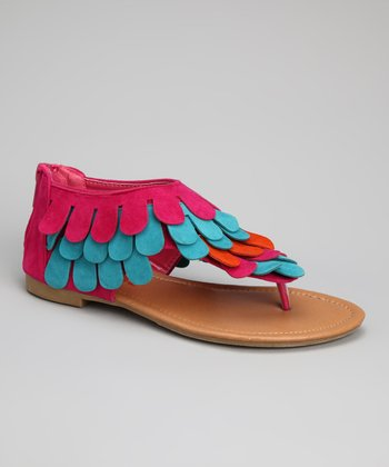 Fuchsia Feather-K Sandal