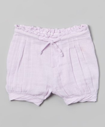 Lavender Muslin Shorts - Infant