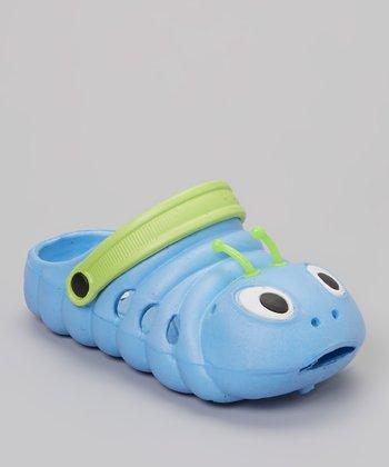 P&W Shoes Blue & Green Bug Clog - Kids