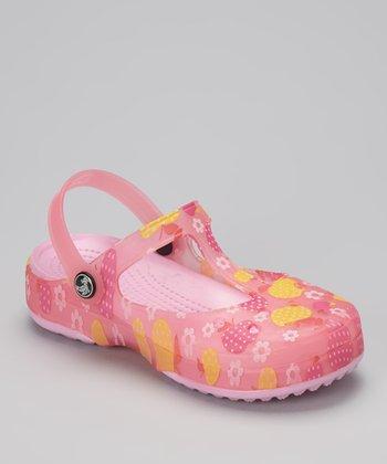 Evacol U.S. Pink Slingback Clog - Kids