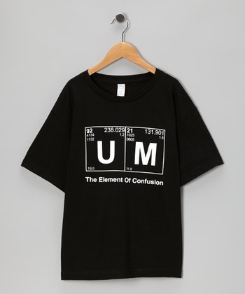Black 'The Element of Confusion' Tee - Kids & Adult