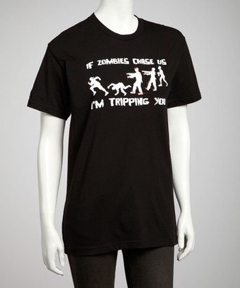 Black 'Zombies Chase Us' Tee - Kids & Adult