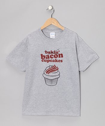 Heather Gray 'Bacon Cupcakes' Tee - Kids & Adult